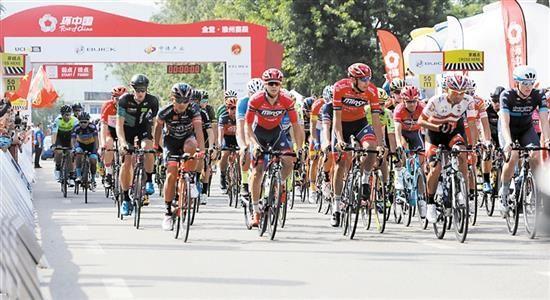 2018第九届环中国国内公路自行车赛在蓉开赛