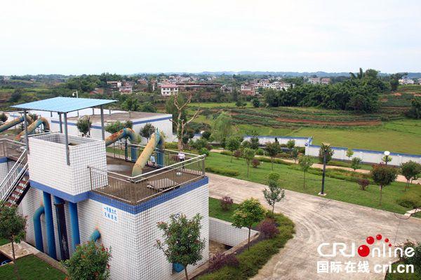 图片默认标题_fororder_绿化后孔滩镇自来水厂整洁有序、环境优美