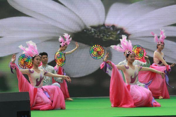 开幕式舞蹈《田野的春天》。(宜宾新闻网 方勇 摄)