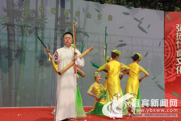 曲艺表演《竹宴》。(宜宾新闻网 方勇 摄)