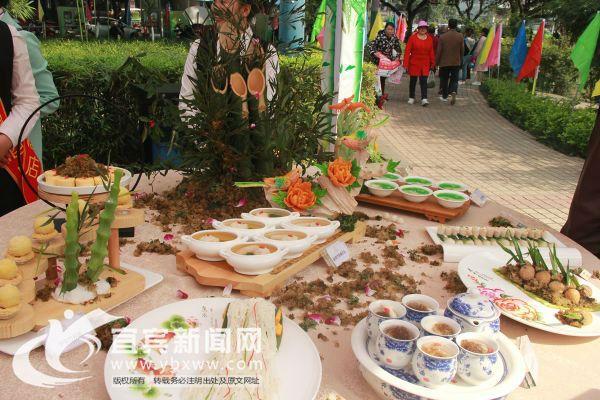 竹海美食让人垂涎欲滴。(宜宾新闻网 方勇 摄)